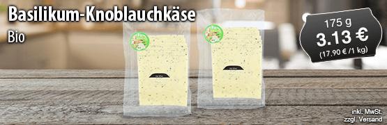 Bio Basilikum Knoblauchkaese, 175 g, Preis: 3,13 Euro, zzgl. Versand, inkl. MwSt. - zum Bestellen hier klicken
