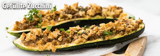 Gefuellte Zucchini - Zum Bestellen hier klicken