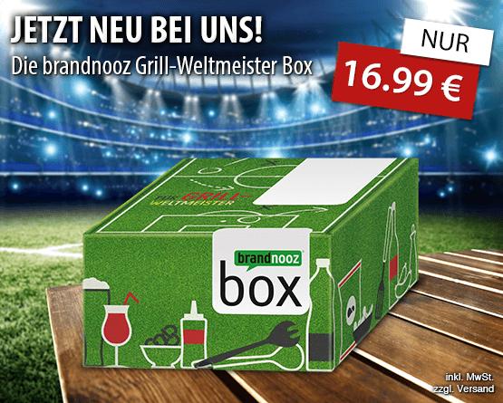 Jetzt neu bei uns! Die brandnooz Grill-Weltmeister Box - nur 16,99 Euro