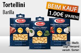 Angebot: Beim Kauf einer Packung Barilla Frische Tortellini erhalten Sie einen Rabatt von 0,50 Euro - zum Bestellen hier klicken