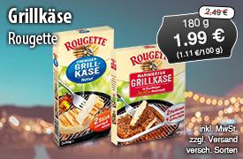 Angebot: Rougette Grillkaese, 180 g, Angebotspreis: 1,99 Euro, Streichpreis: 2,49 Euro, zzgl. Versand, inkl. MwSt., versch. Sorten - Zum Bestellen hier klicken