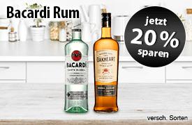 Angebot: Sparen Sie 20 Prozent auf Barcardi Rum - Zum Bestellen hier klicken!