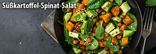 Suesskartoffel Spinat Salat - Zum Bestellen hier klicken