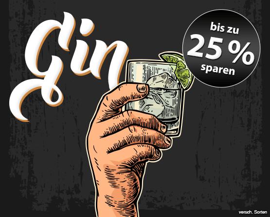 Angebot: Sparen Sie bis zu 25 Prozent auf Gin - Zum Bestellen hier klicken