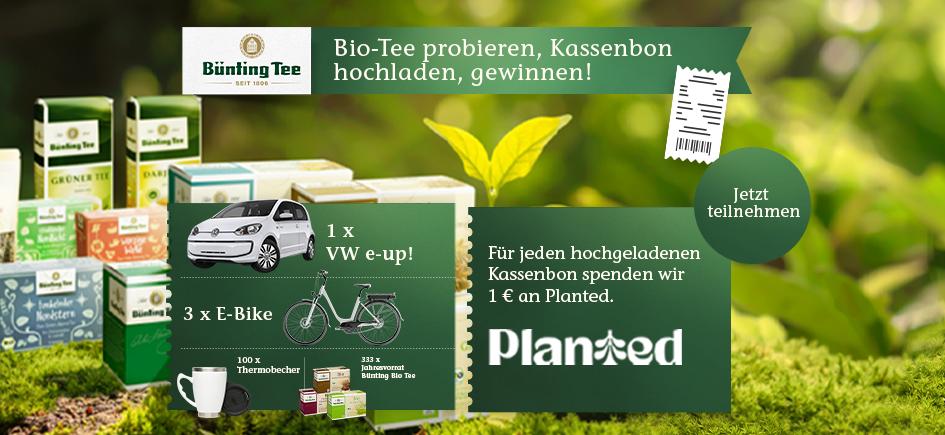 Tee in seiner ganzen Bio-Vielfalt: Probieren Sie unsere Bünting Bio-Tees und sichern sich zusätzlich die Chance auf tolle Gewinne!