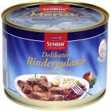 Simon Delikatess Rindergulasch in feiner Sauce