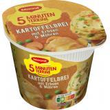 Maggi 5 Minuten Terrine Kartoffelbrei mit Erbsen und Möhren