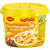 Maggi Topfinito Kartoffelsuppe mit Würstchen, Becher