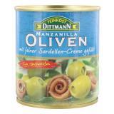 Feinkost Dittmann Spanische grüne Oliven gefüllt mit Sardellen-Creme