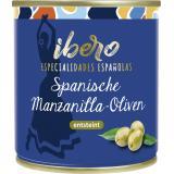 Ibero Spanische Manzanilla Oliven entsteint
