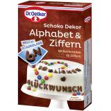 Dr. Oetker Schoko Dekor Alphabet & Ziffern Milchschokolade