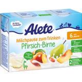 Alete Milchpause zum Trinken Pfirsich-Birne