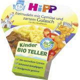 Hipp Bio Eiernudeln mit Gemüse und zartem Gulasch mit Bio Rindfleisch