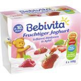 Bebivita Fruchtiger Joghurt Erdbeere-Himbeere in Apfel (MHD 14.07.2018)