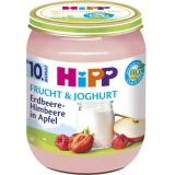 Hipp Frucht & Joghurt Erdbeere-Himbeere in Apfel