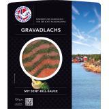 Norfisk Gravadlachs mit Senf-Dill-Sauce