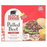 Block House Pulled Beef mit Kürbis Dip