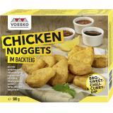 Vossko Chicken Nuggets im Backteig mit Dips