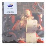 Duni Santa & Snowflakes Tissue-Servietten 33x33cm