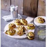 Set: Spinat-Salami-Schnecken mit Raclette-Käse