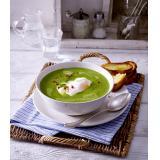 Set: Rahm-Spinat-Suppe mit pochiertem Ei