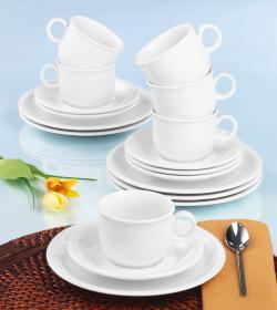 Seltmann Weiden Compact Kaffeeservice 18-teilig weiß uni - 4003106997133