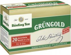 Bünting Grüngold kuvertierte Beutel