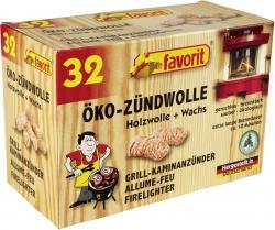Favorit Öko-Zündwolle aus Holzwolle + Wachs