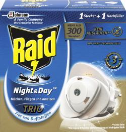 Raid Insekten-Stecker Night & Day Trio