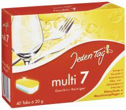 Jeden Tag 7 Multi Geschirr-Reiniger Tabs (40 WL) - 4306188062493