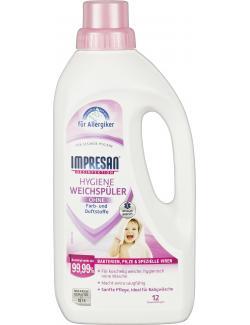 Impresan Hygiene Weichspüler ohne Farb- und Duftstoffe 12WL (1 l) - 4052400035003