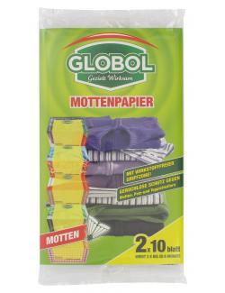 Globol Mottenpapier (2 x 10 Blatt) - 5099831644465