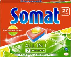 Somat 7 All in 1 Tabs Zitrone & Limette - 4015000961981