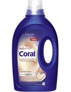 Coral Sensitive+ Vollwaschmittel flüssig  (16 WL) - 8710908505065