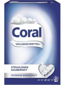 Coral Vollwaschmittel + strahlende Sauberkeit (16 WL) - 8714100141397