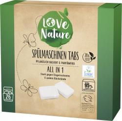 Love Nature Spülmaschinentabs All in 1  26 Tabs