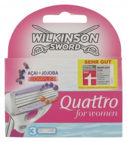 Wilkinson Sword Quattro For Women Klingen (3 St.) - 4027800014200