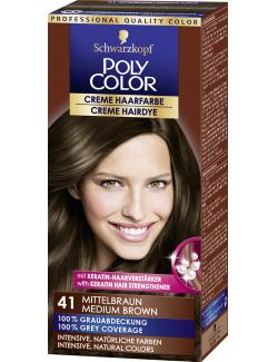 Schwarzkopf Poly Color Creme-Haarfarbe 41 mittelbraun (82,50 ml) - 4015000211413
