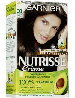 Garnier Nutrisse Creme Pflege-Haarfarbe 30 espresso-dunkelbraun - 4002441020056