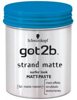 Schwarzkopf got2b Strand Matte surfer look Matt Paste (100 ml) - 4015000516396
