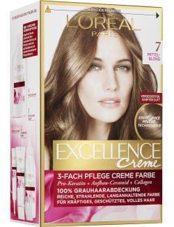 L'Oréal Excellence Creme 7 mittelblond - 4037900174155