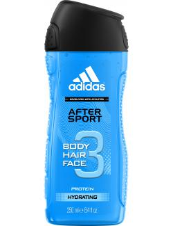 Adidas After Sport 3in1 Shower Gel + Shampoo + Face Wash (250 ml) - 3412247020012