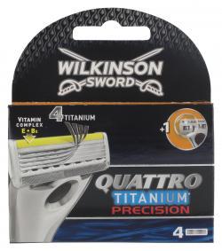 Wilkinson Sword Quattro Titanium Precision Klinge (4 St.) - 4027800009008