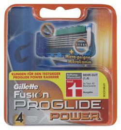 Gillette Fusion Pro Glide Power Klingen (4 St.) - 7702018010691