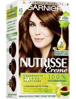 Garnier Nutrisse Creme Pflege-Haarfarbe 43 cappuccino goldbraun - 4002441020087