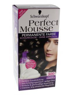 Schwarzkopf Perfect Mousse Schaumcoloration 300 schwarzbraun (93 ml) - 4015000934114