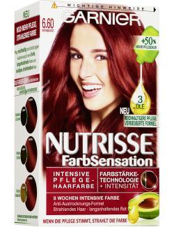 Garnier Nutrisse FarbSensation Pflege-Haarfarbe 6.60 intensiv Rot (1 St.) - 3600541043046