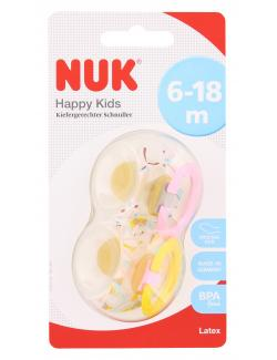 Nuk Happy Kids Kiefergerechter Schnuller Latex Gr. 2