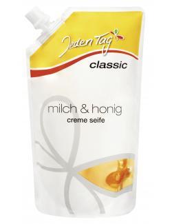 Jeden Tag Milch & Honig Creme Seife Nachfüllbeutel (500 ml) - 4306188062349
