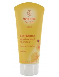 Weleda Calendula Baby Waschlotion & Shampoo (200 ml) - 4001638088329
